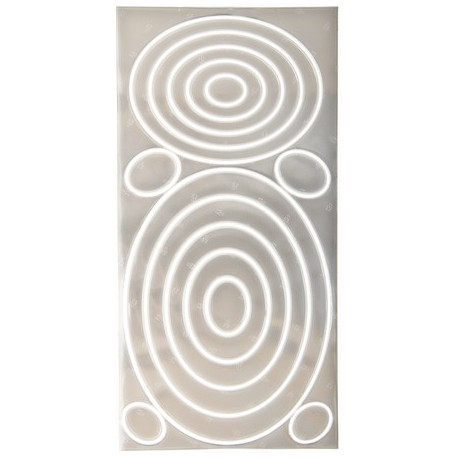 SeeMe refleks med hvide cirkler