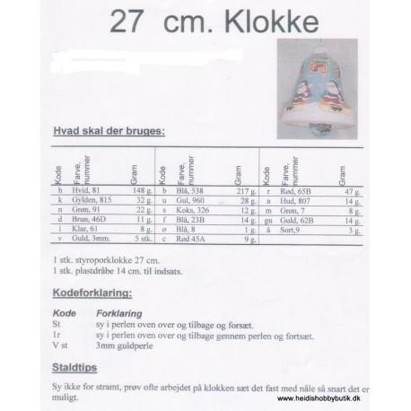 27 cm klokke med julemand