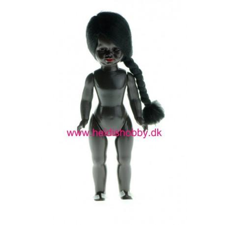 17 cm mørk dukke