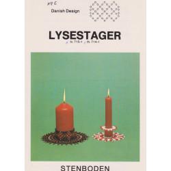 Perleopskrift 1983  nr  714-1 lysestage Stenboden -brugt-