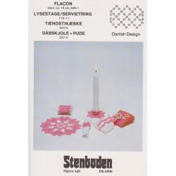Perleopskrift 1983  nr 716-1 lysestage Stenboden - brugt-