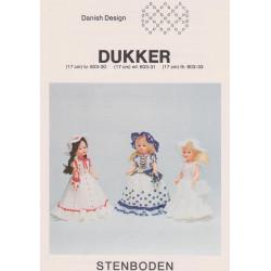 Perleopskrift 1983  nr 603-33 dukke 17 cm Stenboden