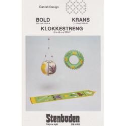 Perleopskrift 1983  nr 209-23  krans med kyllinger Stenboden -brugt-