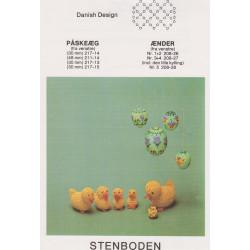 Perleopskrift 1983  nr 208-27 ænder Stenboden -brugt-