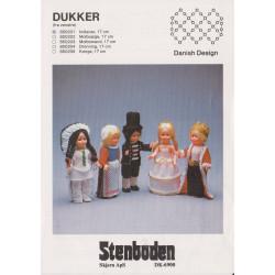 Perleopskrift nr 850204 dukke 17 cm Stenboden -brugt-