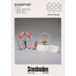 Perleopskrift nr  850304 bordkort- hestesko Stenboden -brugt-