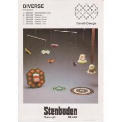 Perleopskrift nr 850505 klokke 7 cm Stenboden -brugt-