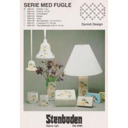 Perleopskrift  860103 Stenboden fyrfadsglas -brugt-
