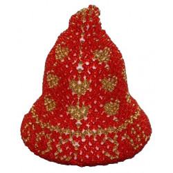Begynder perlepakning N3 Massiv juleklokke 8 cm med God jul