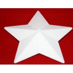 Styropor stjerne 20 cm 5 takket