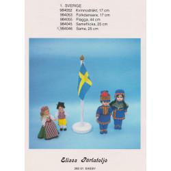 Perlemønster nr. 984052  17 cm dukke Elises -brugt-