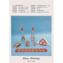 Brugt Elises nr 984025 tændstikæske ca. 11 cm