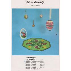 Brugt 1985 Elises nr. 985040 påskeæg med hare 10 cm