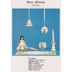 Brugt 1986 Elises nr. 986009 kjole med blomster 17 cm dukke