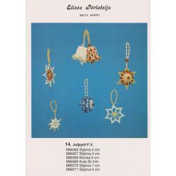 Perlemønster nr. 986066 stjerne med risperler Elises -brugt-