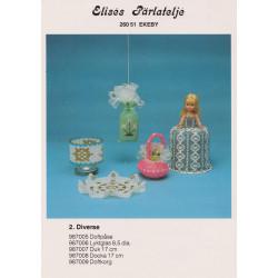 Brugt Elises nr. 987006 fyrfads glas med anker