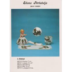 Brugt 1987 Elises nr. 987010 kjole med egeblad 17 cm