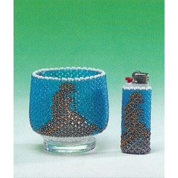 ILA perlemønster fyrfadsglas og lighter med den lille havfrue