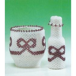 ILA perlemønster fyrefadsglas og flaske