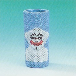 ILA perlemønster vase med pjerrot