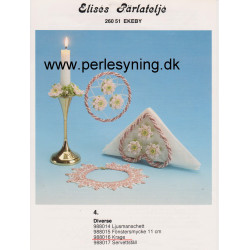 Perlemønster nr. 988014 Elises lysmanchet -brugt-
