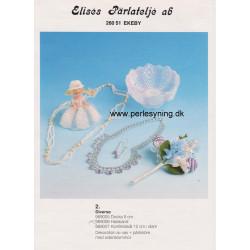 Perlemønster nr 989007 konfektskål Elises -brugt-