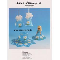 Brugt Elises 989012 dukkekjole med blomster 15 cm