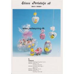 Perlemønster nr 989035 5 cm hjerte Elises -brugt-