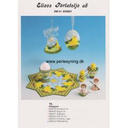 Perlemønster nr. 989044 påskepiger Elises -brugt-