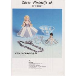 Perlemønster nr 990009 skål ca 12 cm Elises -brugt-