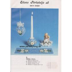 Perlemønster nr 990020 lysestage Elises -brugt-