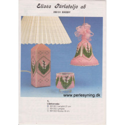 Perlemønster nr 991001 lampefod 21 cm Elises -brugt-