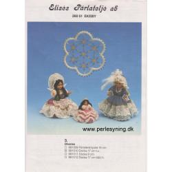 Perlemønster nr 991011 dukke 9 cm Elises -brugt-