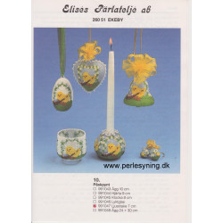 Perlemønster nr 991047 lysestage Elises -brugt-