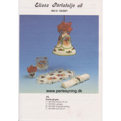 Perlemønster nr 991065 servietring Elises -brugt-