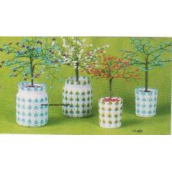 - Brugt -ILA opskrift krukke til perletræ