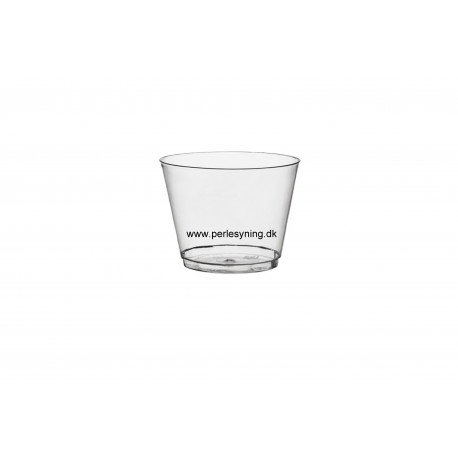 lysestage i glas 6 cm høj