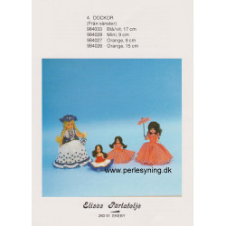 Perlemønster nr. 984026 15 cm dukke Elises -brugt-