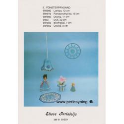 Brugt 1984 Elises nr. 984093 på 17 cm dukke i krinolinekjole