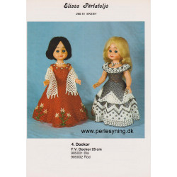 Perlemønster nr. 985001 blå kjole Elises -brugt-