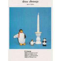 Perlemønster nr 986016 pingvin 5 cm Elises -brugt-