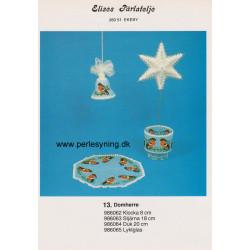 Perlemønster nr 986062 klokke med dompap 8 cm Elises -brugt-