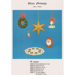 Perlemønster nr 986073 julekugle med krans 40 mm Elises -brugt-