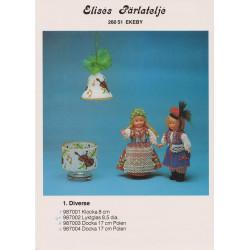 Brugt 1987 Elises nr. 987001 klokke med violin 8 cm