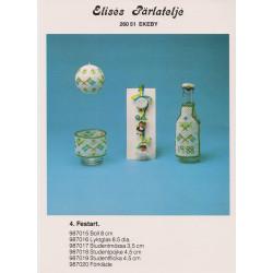 Perlemønster nr. 987020 forklæde til flaske Elises -brugt-