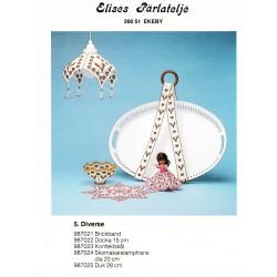 Perlemønster nr. 987021 bakkebånd Elises -brugt-