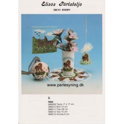 Brugt 1988 Elises nr, 988012 vase med hest