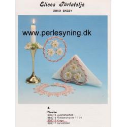 Perlemønster nr, 988017 Elises  servietholder -brugt-