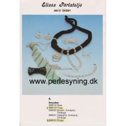 Brugt 1988 Elises nr, 988021 halskæde armbånd og øreringe