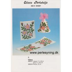 Perlemønster nr, 988027 løber 17 x 45 cm Elises -brugt-